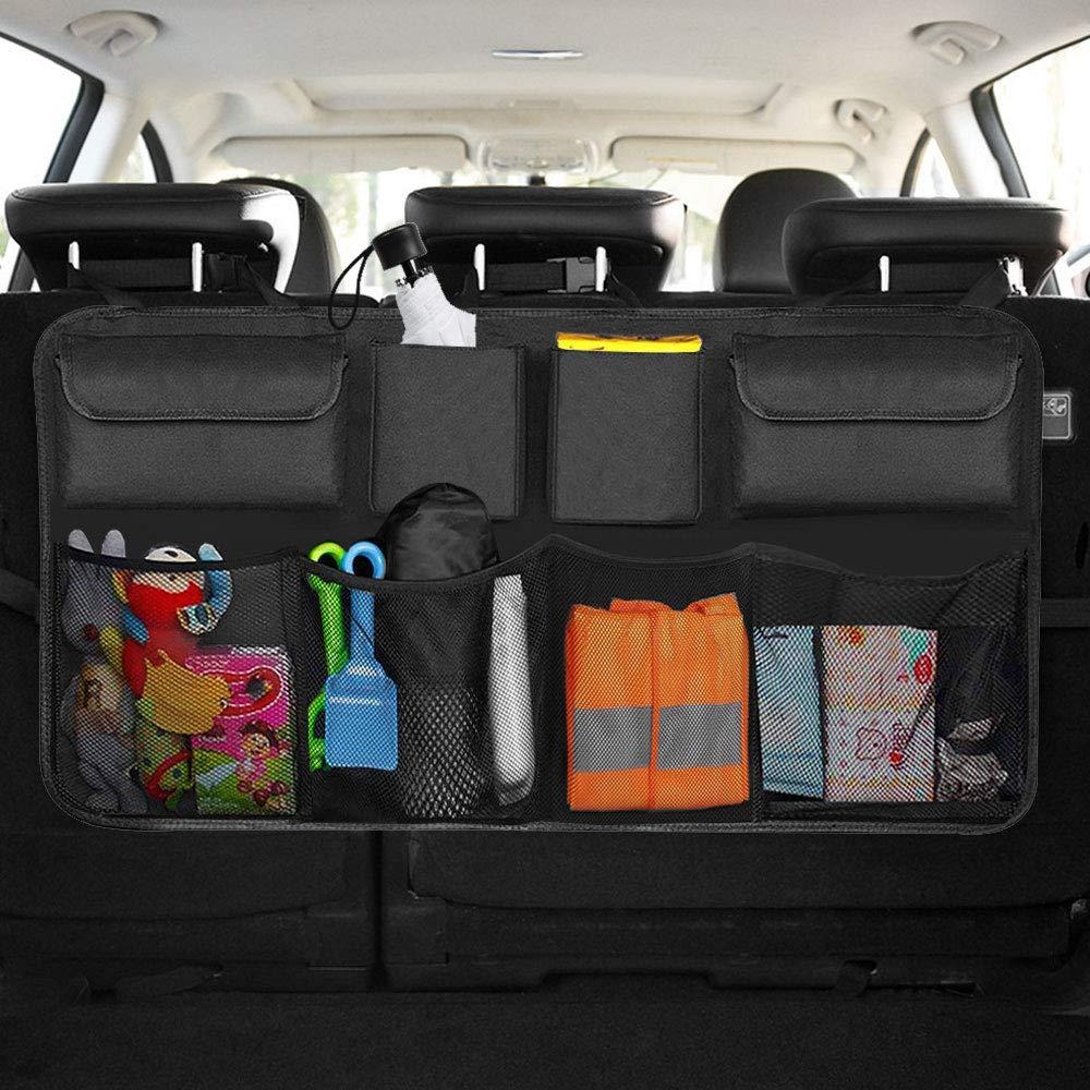 Car Trunk Organizers Car Backseat Organiser Durable Foldable Cargo Net Storage for All Vehicles 8 Pockets Infreecs Car Boot Organiser Storage