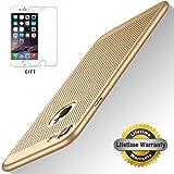 Coque iPhone 7, PC Matière avec, STANAWAY[Ultra Mince Léger][Protection Verre Trempé Cadeau ][ Anti-Rayures Anti-dérapante] Coque pour Iphone 7 - 4.7pouces - OR