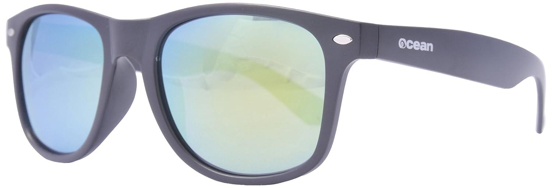 Ocean Sunglasses Beach wayfarer - lunettes de soleil polarisées - Monture : Rouge Glacé Transparent - Verres : Revo Jaune (18202.15) JpFmpMaBy