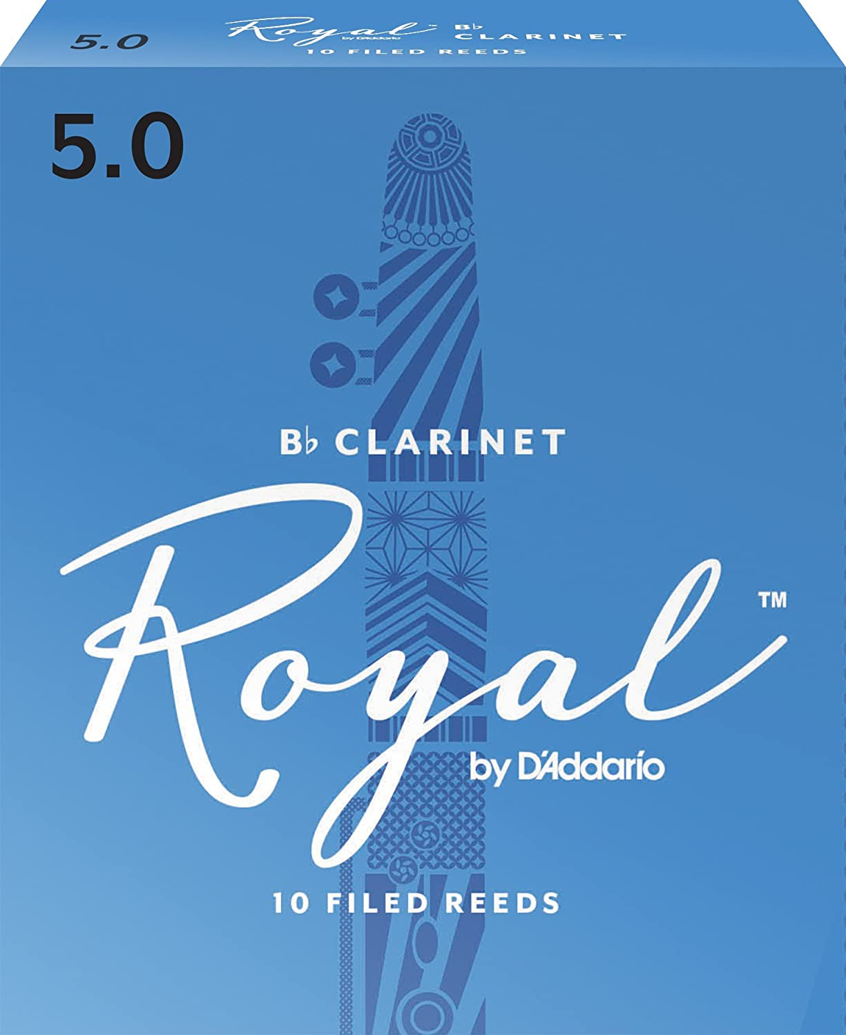 Royal by D'Addario RCB1010 Bb Clarinet Reeds, Strength 1.0, 10-pack D'Addario &Co. Inc