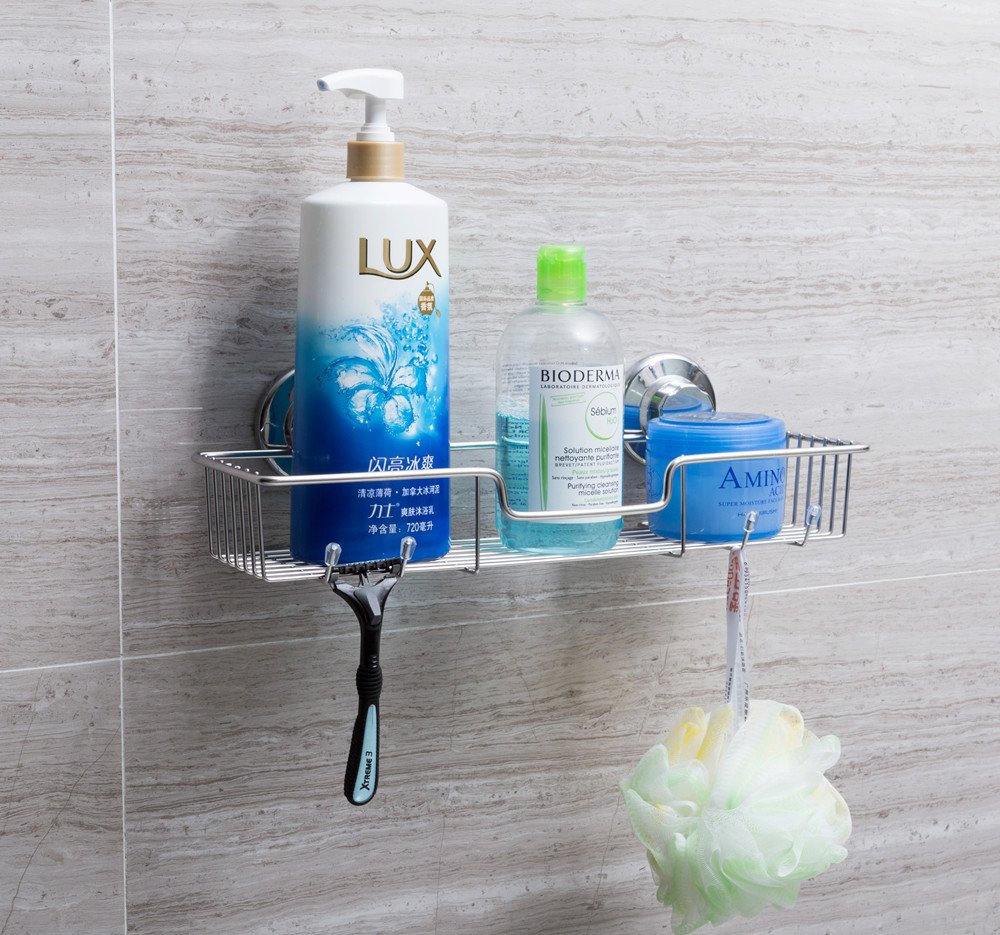 SANNO Bathroom Shower Caddy Bath Shelf Storage Organizer No Damage ...