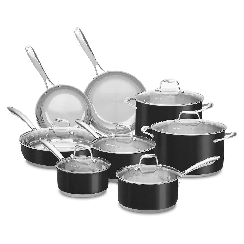 Amazon.com: KitchenAid Stainless Steel Cookware Set (14 pc ...