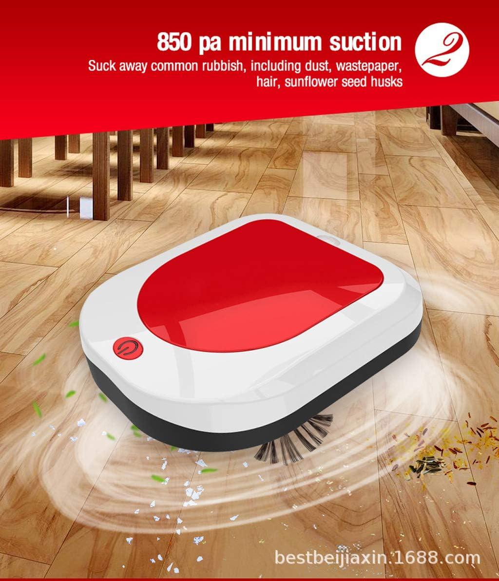 LHY Kitchen Aspirateur Robot, désinfection Automatique des ménages Intelligent Sweeper Grande Aspiration à Faible Bruit et Une Faible consommation électrique,Rouge Red
