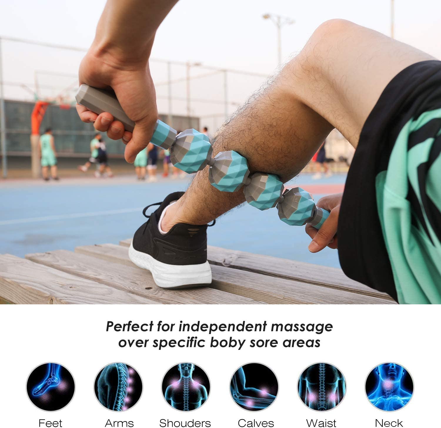 Designed to Relieve Stress and Relax Tight Muscles Deep Tissue Muscle Roller Stick for Trigger Points Myofascial Release Leg Quads /& Calf Tightness