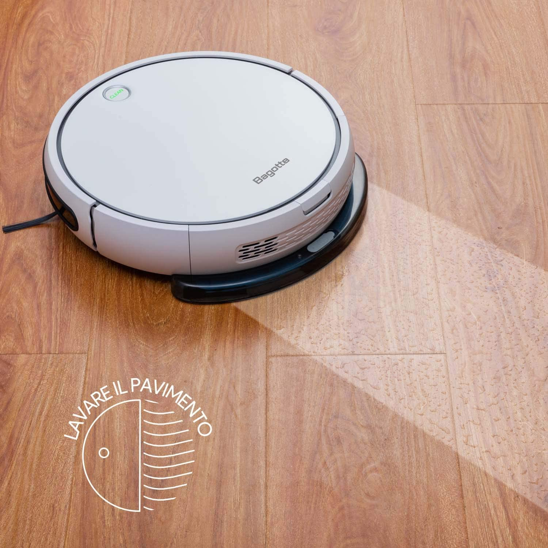 Bagotte I7 Robot Aspirador y Fregasuelos con Tanque de Agua, Aspirar, Barrer y Fregar con Navegación Inteligente, Programable, Carga Automática, para Suelos Duros y Alfombras con Cinta Magnética: Amazon.es: Hogar