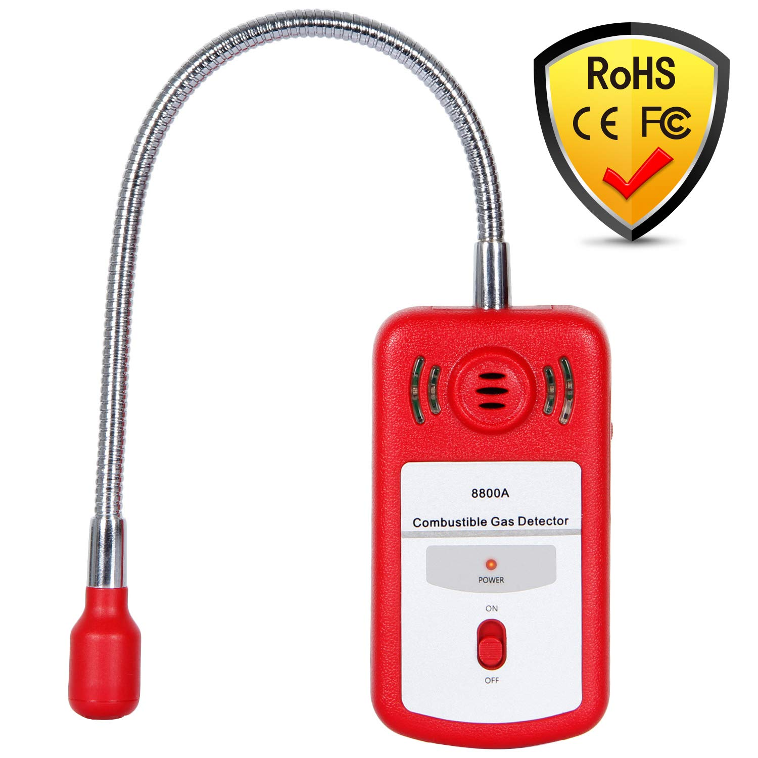 SGILE Natural Gas Detector, Combustible Gas Sniffer Propane Leak Sensor Methane Alarm with Sound Light