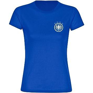 Multi Fan Shop Camiseta de Alemania Águila Retro Azul – Camiseta para Mujer (Tallas S