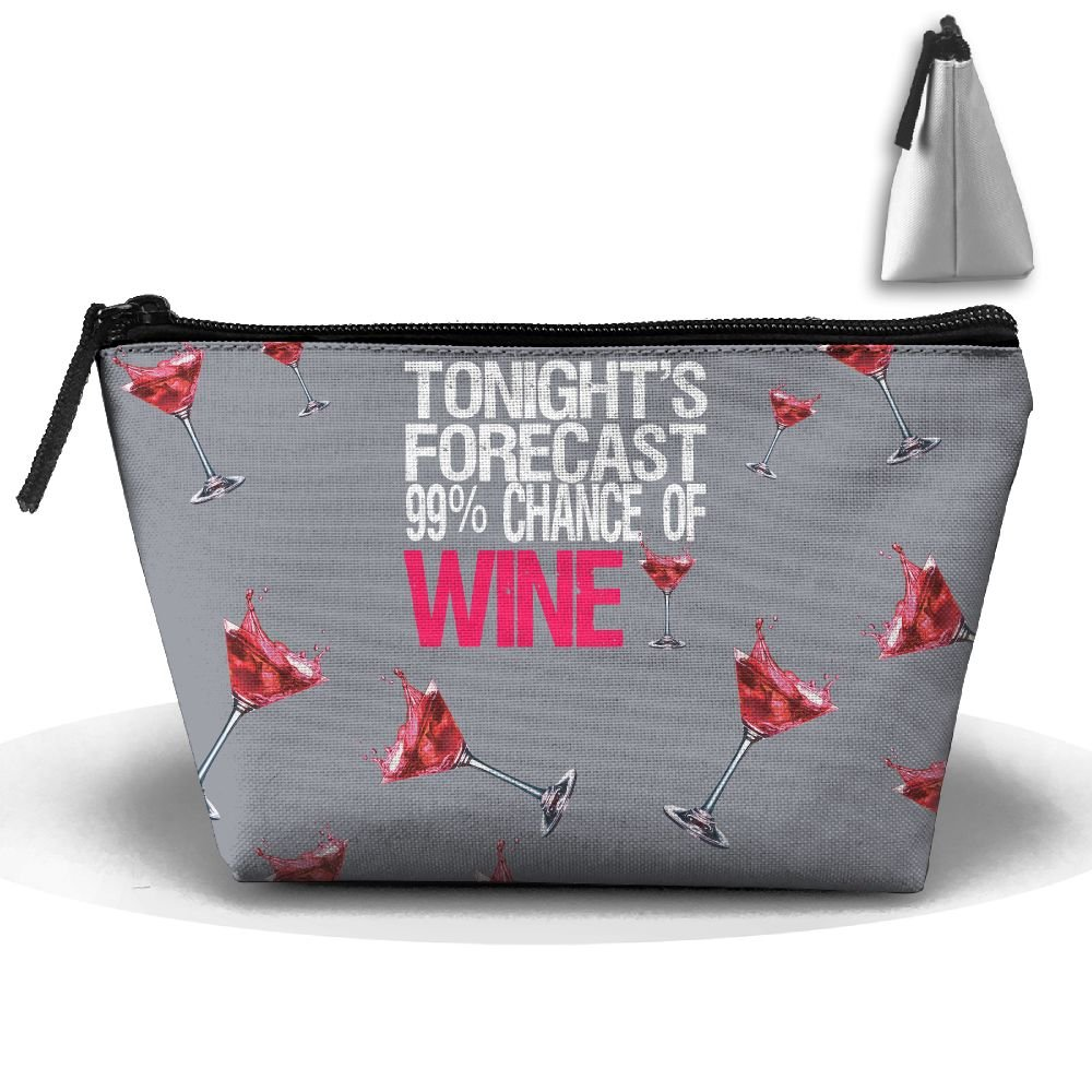 Tonights Forecast 99%Chance Of Wine Makeup Pouch Portable Skincare Cosmetic  Pouch Bags cheap e1f56d6b7d