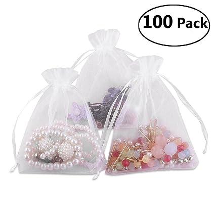 Amazon Foxnovo 100 Pack 9x12cm Organza Drawstring Gift Bags