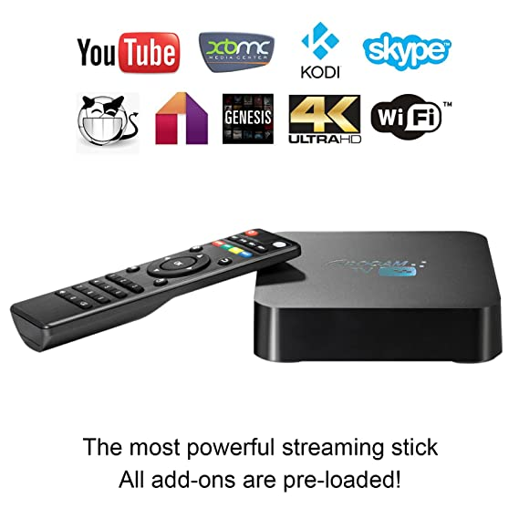 ROCAM Q TV Box Quad-Core Kodi Android 4.4 Smart Box Support IPTV and OTT TV Programmes, VC-1,H.264, MPEG-1,MPEG-2,MPEG-4,DIVX,REALMEDIA Streaming Media ...
