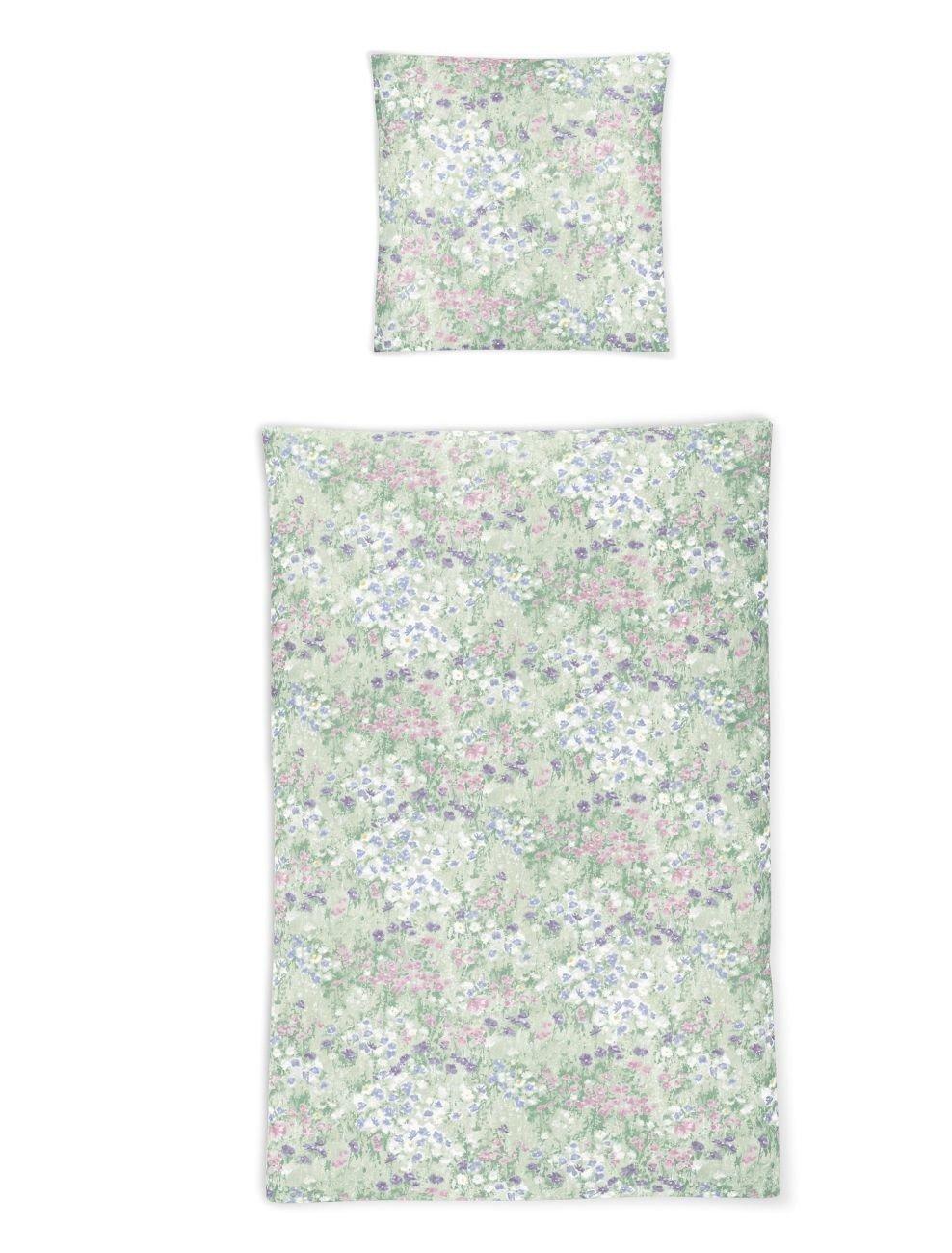 Irisette Soft Jersey Luna Bettwäsche 2 teilig Bettbezug 155 x 200 cm Kopfkissenbezug 80 x 80 cm Luna 381697-90 Pastel