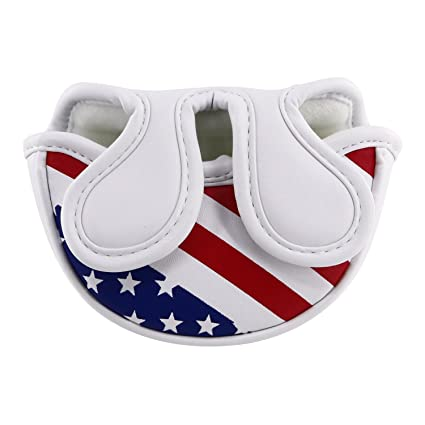 de696cdc8aa Craftsman Golf Stars and Stripes USA America Flag Mid Mallet Putter Cover  Half-Mallet Headcover for Scotty Cameron Odyssey Taylormade Rossa Midsize  Putter