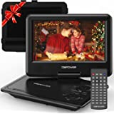 "DBPOWER 11.5"" Portable DVD Player, 5-Hour Built-in Rechargeable Battery, 9"" Swivel Screen, Support CD/DVD/SD Card/USB, Remote"