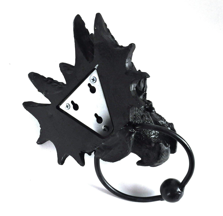 Aldaba para Puerta 23,5 cm, 20 cm Nemesis Now Dragon Color Negro