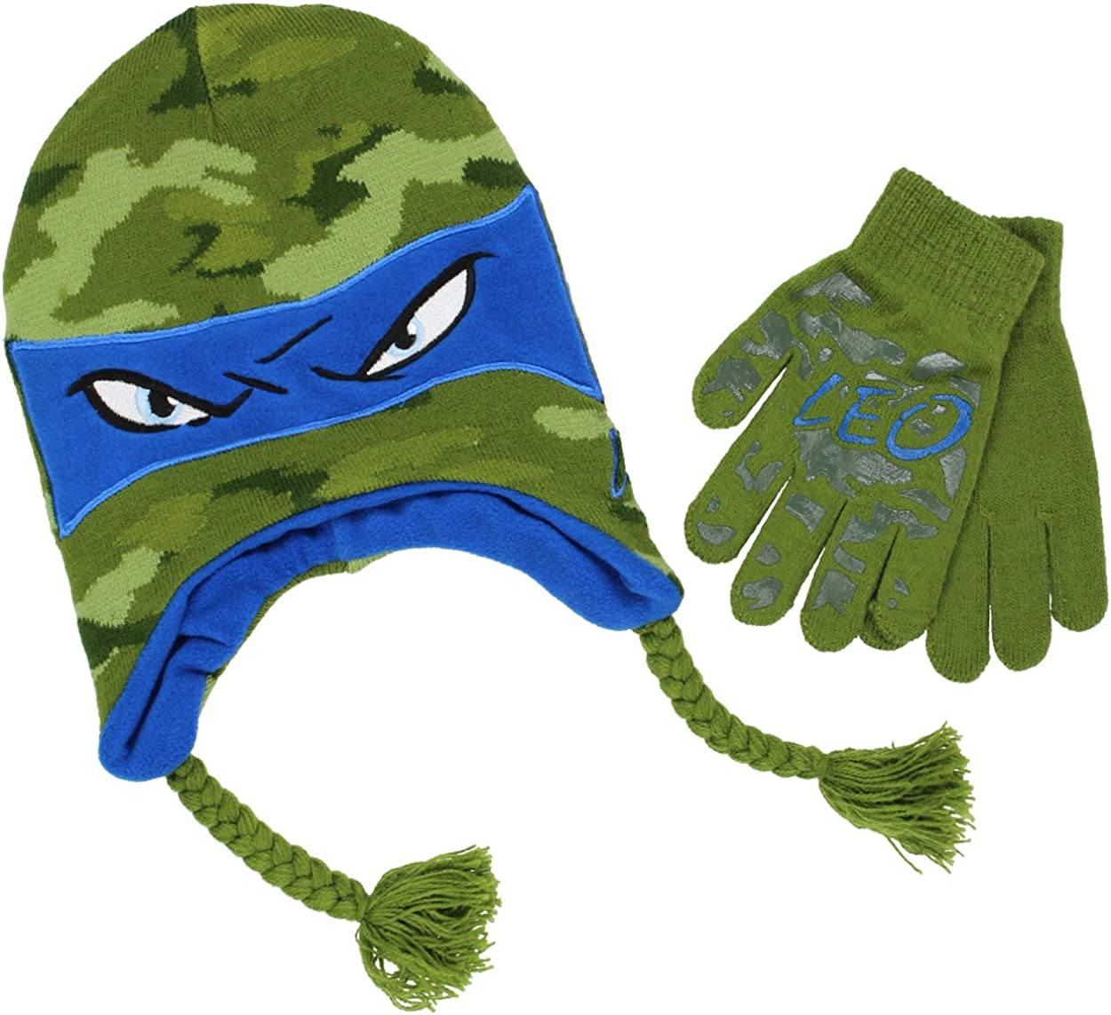 TMNT Teenage Mutant Ninja Turtles Boys Beanie Hat and Gloves Set (Little Kid/Big Kid)