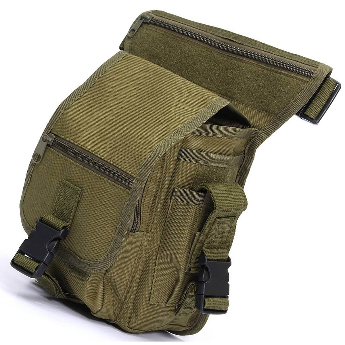 Anjoy Drop Leg Bag Fanny Waist Thigh Packs Outdoor Military Tactical Pouches ebest