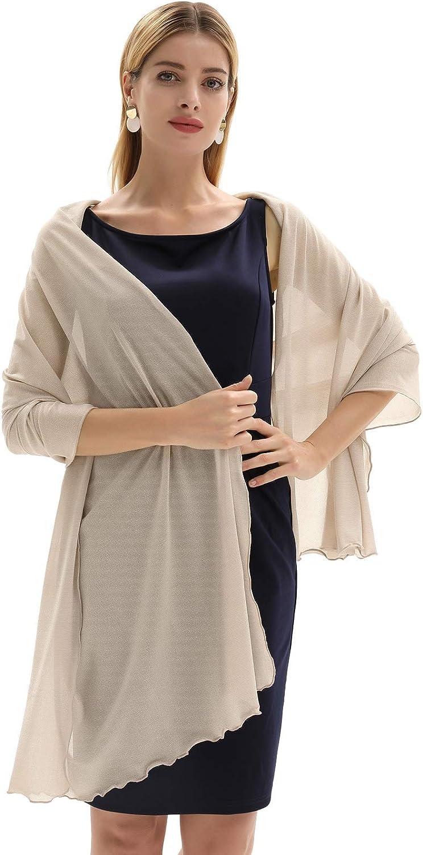 GRACE KARIN Stola Damen Elegant Schal f/ür Abendkleider CL972