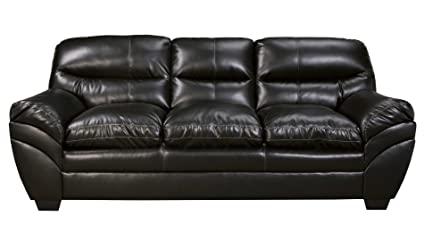 Ashley Tassler DuraBlend Leather Sofa in Black
