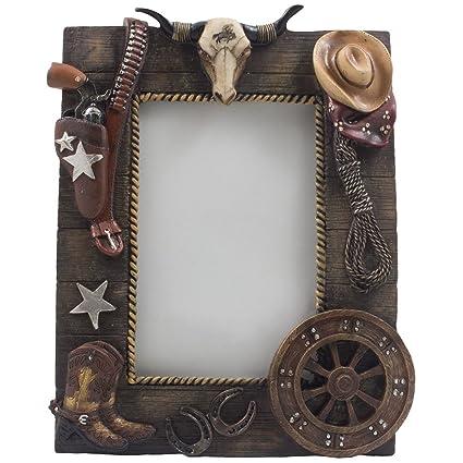 Amazon.com - Decorative Wild West Desktop Photo Frame with Texas ...
