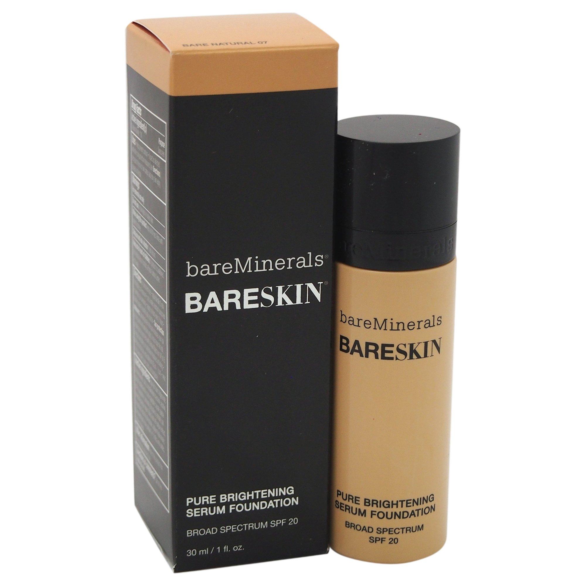 bareMinerals bareSkin Pure Brightening Serum Foundation SPF 20, Bare Natural 07, 1 Ounce