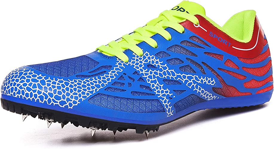| iFRich Track Spikes Shoes Mens Womens Mesh