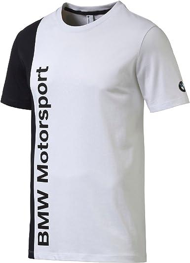 PUMA 761989 BMW Camiseta de Manga Corta para Hombre, Color Blanco, FR: S () Talla S: Amazon.es: Deportes y aire libre