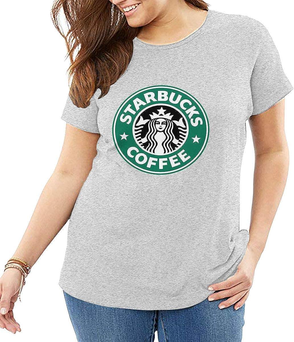 Camiseta de Manga Corta con Logo de Starbucks para Mujer, Cuello ...