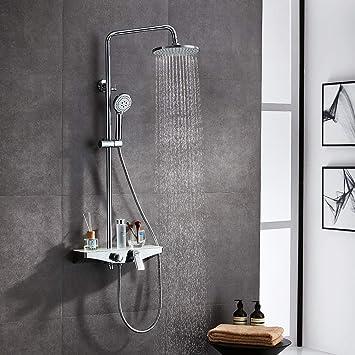 Lonheo - Columna de ducha para cuarto de baño, altura ajustable ...