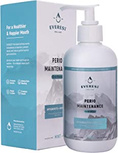 'Everest' Perio Maintenance Oral Rinse Concentrated Mouthwash | 0.63% Stannous Fluoride | 10 oz Oral Care Mouth Wash with Easy Pump Dispenser | 2+ Months Supply – Mint