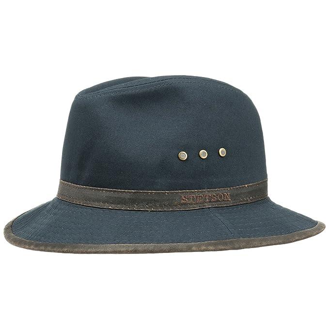 Nastro in Grosgrain Primavera//Estate Stetson Cappello di Tessuto Alao Traveller Uomo da Estivo con Fodera