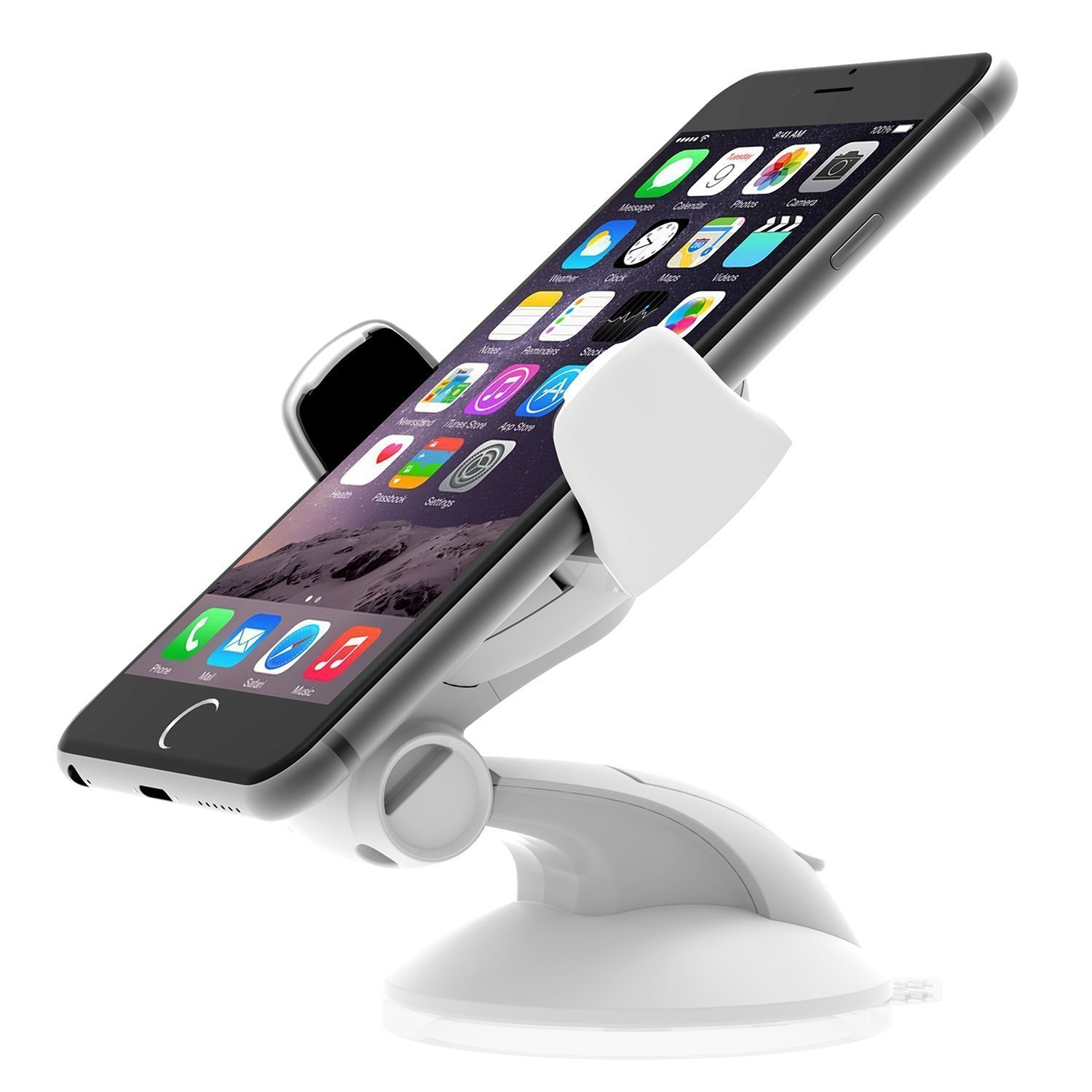 iOttie Easy Flex 3 Car Mount Holder for iPhone 7/6s/6, Galaxy S7/S7 Edge, S6/S6 Edge - Retail Packaging – Black BE Headwear HLCRIO108