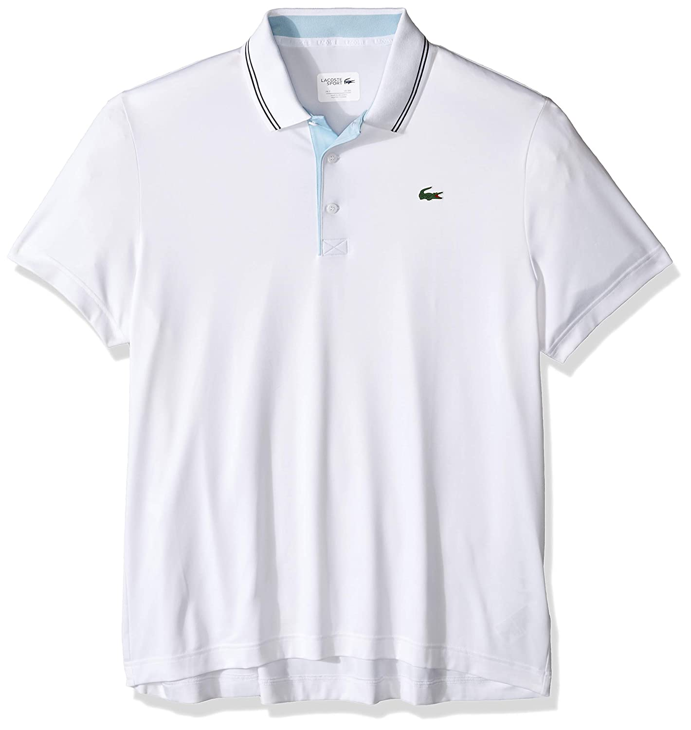 Lacoste Mens Sport Short Sleeve Jersey Polo W//Contrast Piping