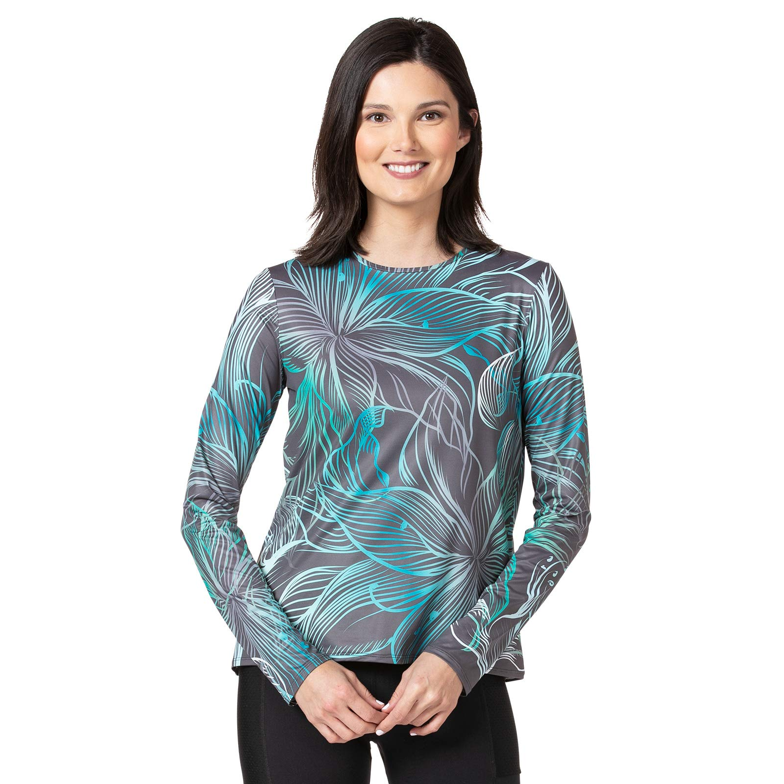 Terry Women's Soleil Flow Long Sleeve Athletic Top Loose Fit UPF 50+ Protection Lightweight - X-Ray - Medium by Terry