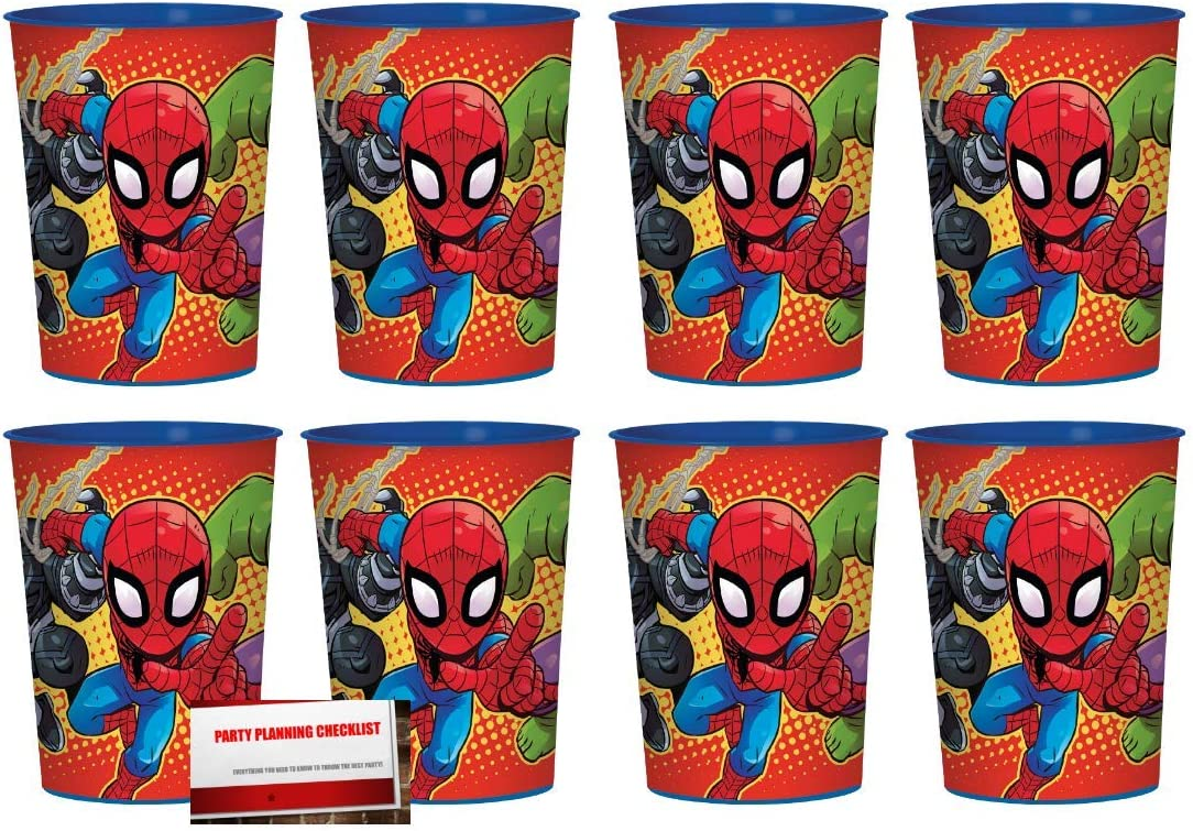 Spiderman Plastic Party Cups