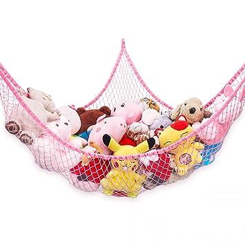 Tidy Jumbo Hammock Toy Net Organizer Corner Stuffed Animals Kids Hanging Storage