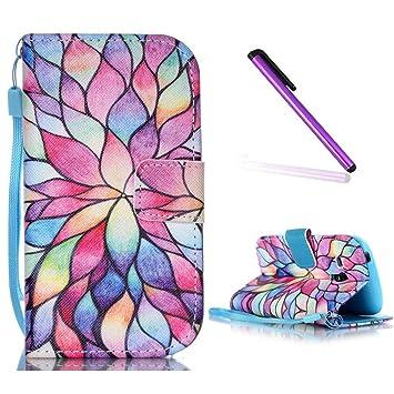 Funda para Samsung Galaxy S3 Mini,Carcasas para Samsung Galaxy S3 Mini,EMAXELERS Billetera 3D Pintura Funda Piel para Samsung Galaxy S3 ...