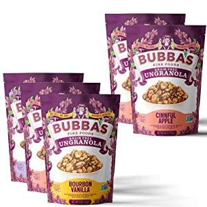 Bubba's Paleo Granola Variety Pack with Extra Cinnful Apple 2-Pack