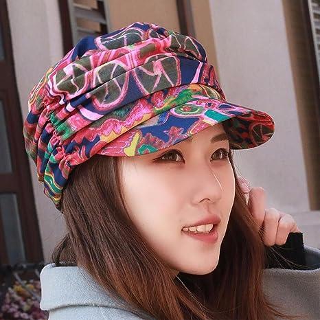SAIBANGZI Mujer Sombrero De Verano Flat Top Hat Fashion Sombrilla Hat  Outdoor Montañismo Hat Cap De 28de4f8725e