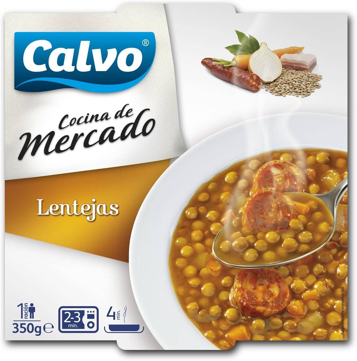 Calvo - Lentejas Cocina Mercado 350: Amazon.es: Alimentación ...