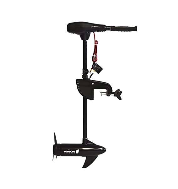 "Newport Vessels NV-Series 55lb Thrust Saltwater Transom Mounted Trolling Electric Trolling Motor w/ LED Battery Indicator & 30"" Shaft"