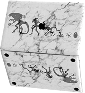 Mertak Vinyl Skin Compatible with MacBook Air 13 inch Mac Pro 16 15 Retina 12 11 2020 2019 2018 2017 Top Touch Bar Wrap Cover Alien Monster Marble Trackpad Horror Cool Evolution Keyboard Decal