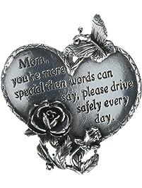 """CA Gift KVC321 Heart Visor Clip, Mom, 2-3/4"""""""