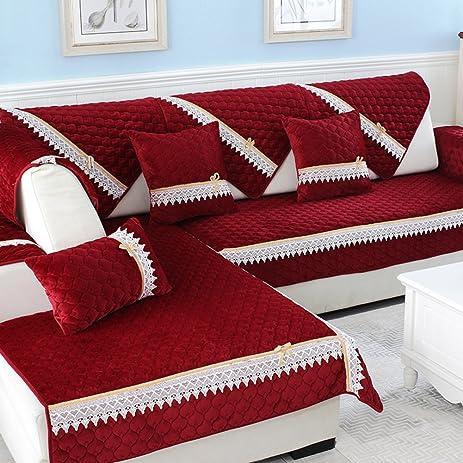 Sofa Covers, Essen Plüsch SofakissenSolide Holz Wohnzimmer Möbel Universal  Sitzbezüge Volle Deckung Ledersofa Set Haube