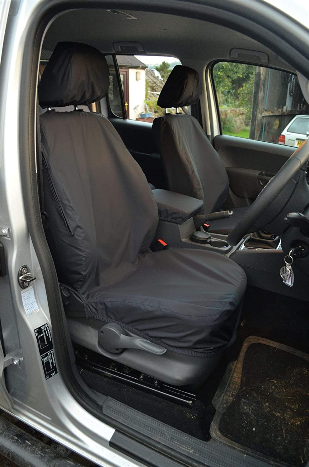 Van Demon Tailored Fit 1+1 Front Row and Triple Rear Bench Seat Waterproof Seat Cover Set in Black VY23116#KIT