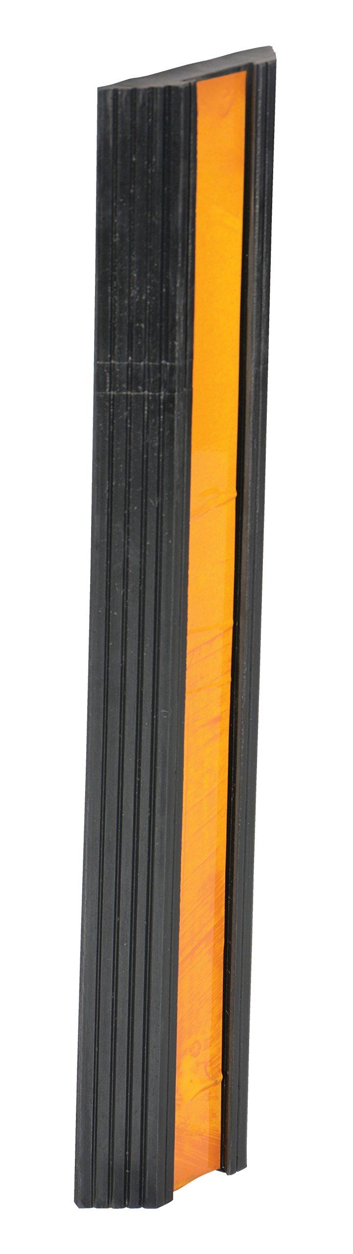 Vestil BS-24 Rubber Extruded Bumper Stop, Rectangular, 24'' Length, 5-1/2'' Width, 1-1/4'' Depth
