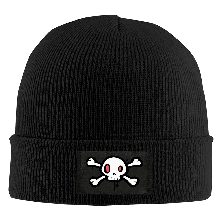 YFLLAY A Creative Skeleton Knit Cap Woolen Hat For Unisex