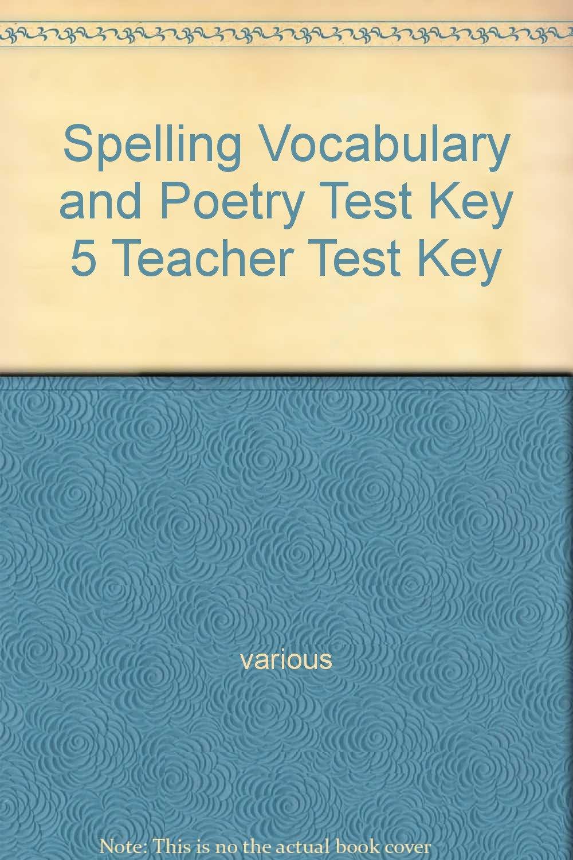 A Beka Spelling Vocabulary Poetry 5 pdf