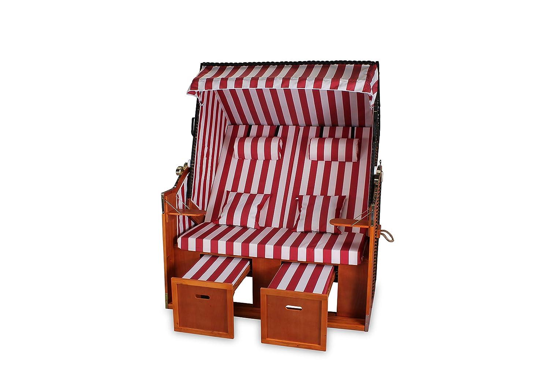 c50f139cfdfd Rattan Wicker Beach Chair XXL Usedom 136 cm Extra Wide Miweba Baltic ...