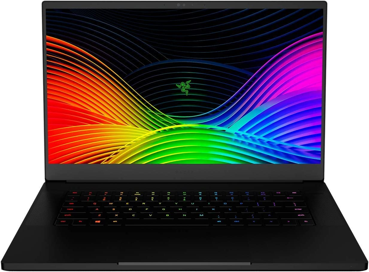 "Razer Blade 15 Gaming Laptop 2019 - Intel Core i7- 9750H 6 Core, GeForce RTX 2080 Max-Q, 15.6"" FHD 1080p 240Hz, 16GB RAM, 512GB SSD, CNC Aluminum Chroma RGB Lighting Thunderbolt 3 Compatible (Renewed)"
