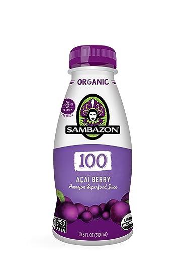 Sambazon Organic 100 Superfood Juice, Acai Berry, 10.5 oz